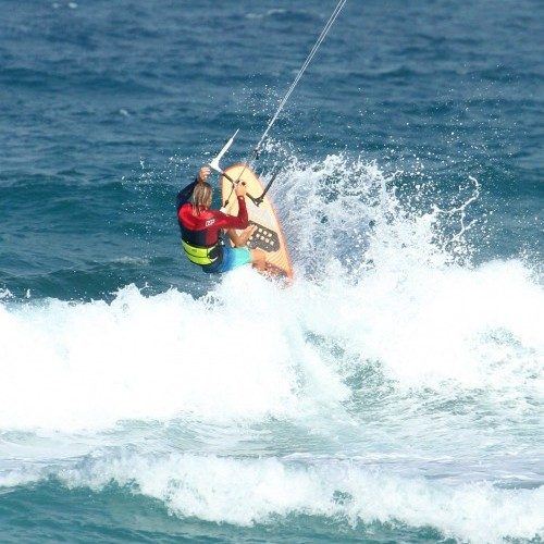 Getting Out, Over and Through the White Water on a Surfboard Kitesurfing Technique