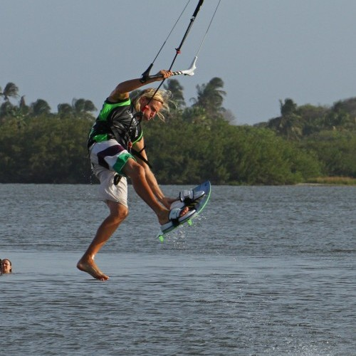 One Foot Front Loop Transition Kitesurfing Technique