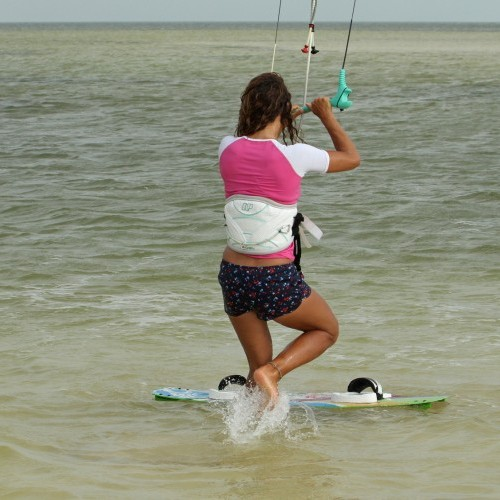 Beach Start from Two Feet Kitesurfing Technique