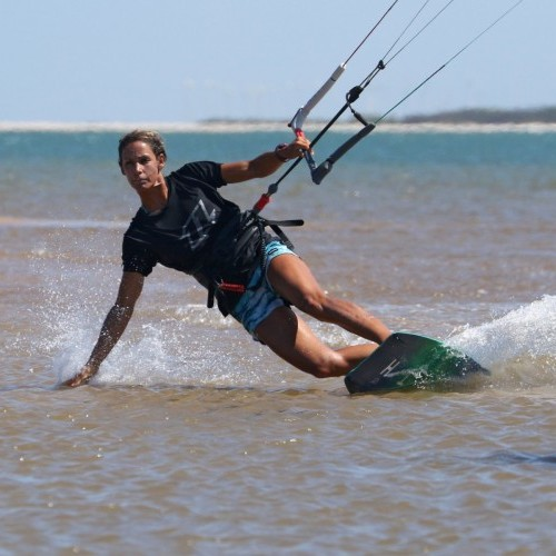 Toe Side Hand Drag Kitesurfing Technique