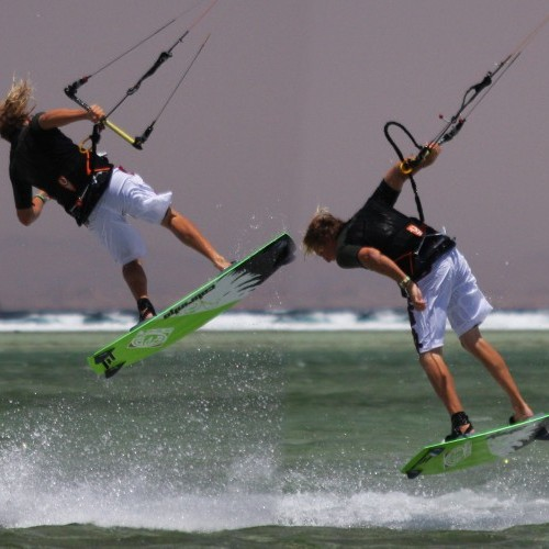 Back Loop to Blind with Surface Pass Kitesurfing Technique