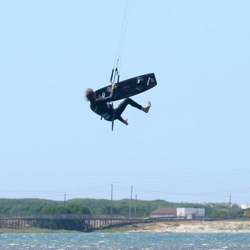 Back Roll Tail Grab Board Off Kitesurfing Technique