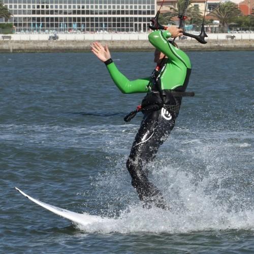 Surf Board Duck Tack Kitesurfing Technique