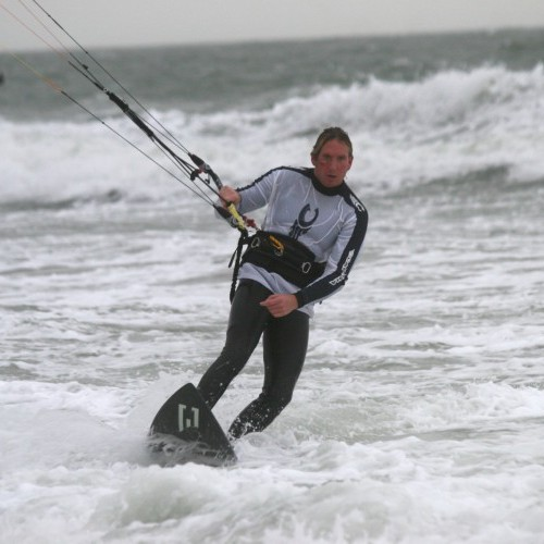 Surfboard Foot Change Kitesurfing Technique