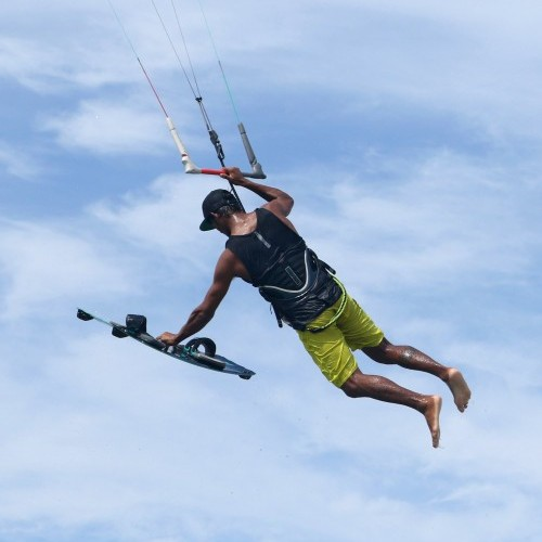 Board Off Varial with Handle Kitesurfing Technique