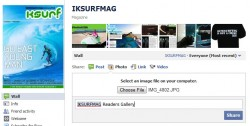 Enusre you type 'Readers Gallery' after you have tagged IKSURFMAG then finally click 'Share'